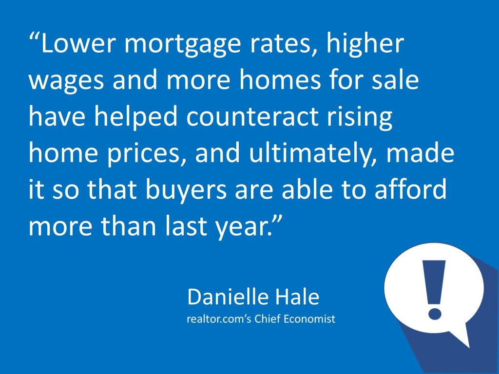 Lower mortgage rates...