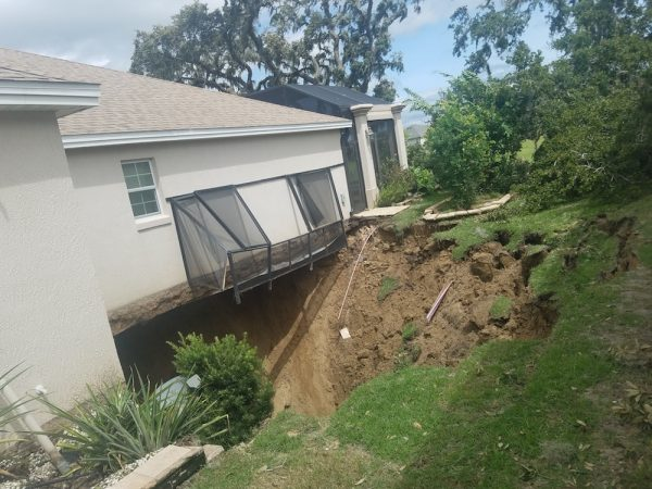 Sinkhole Damaged Home