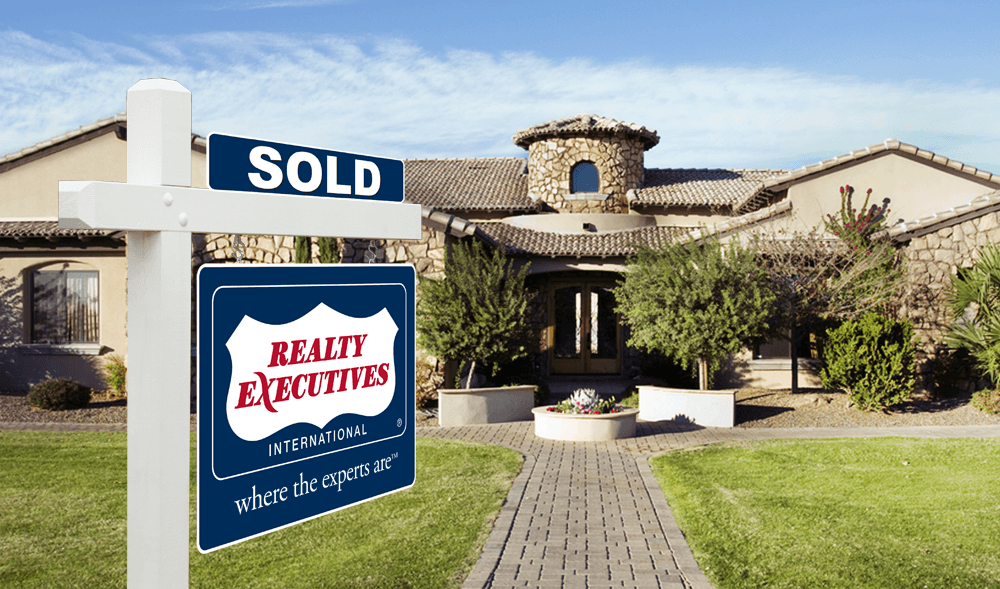 Realty Executives - where the experts are - SOLD yard sign