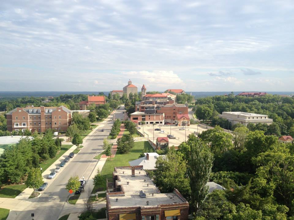 University of Kansas from Oread Hotel